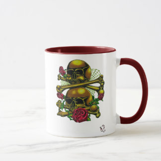 Skulls, Webs, and Roses Mug