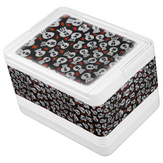 Skulls with network flowers - Cooler 12 cans Igloo Cooler