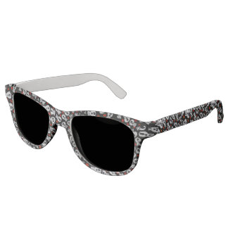 Skulls with network flowers - sunglasses