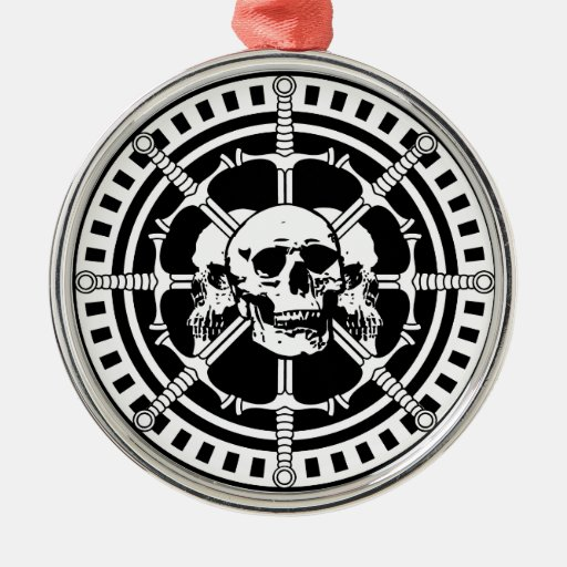 Skulls with Swords Christmas Ornament