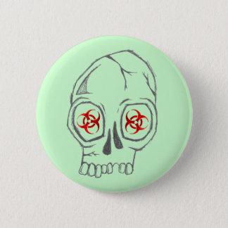 SkullSick 6 Cm Round Badge