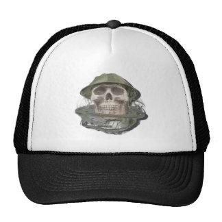 SkullWearingBeeKeeperHat100712 copy png Trucker Hat