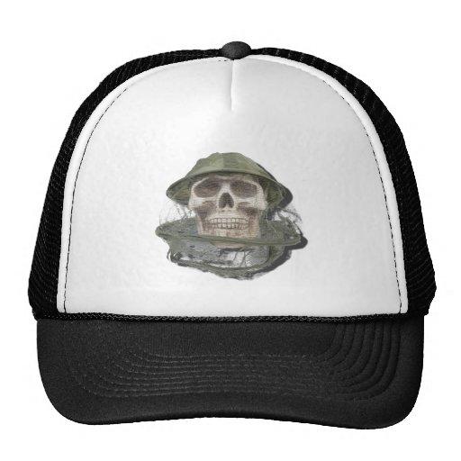 SkullWearingBeeKeeperHat100712 copy.png Trucker Hat