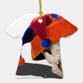 SkullWearingJokerHat103013.png Christmas Ornament
