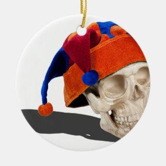 SkullWearingJokerHat103013.png Christmas Ornaments