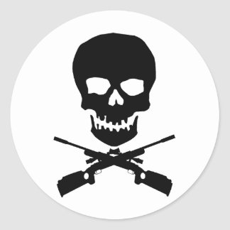 skullxrifles round sticker