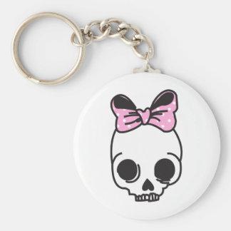 skully basic round button key ring