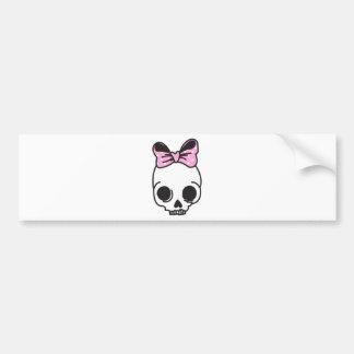 skully bumper sticker