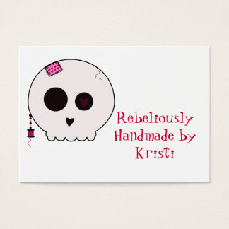 Skully Crafter Hang Tag Business Card