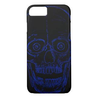 Skully Skull Blue Demon Skull iPhone 7 Case