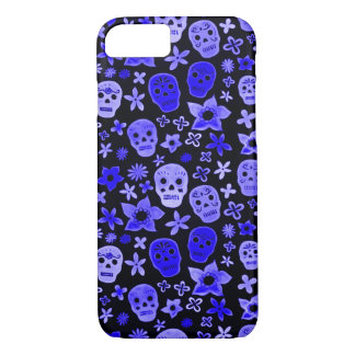 Skully Skull Blue Voodoo Priest iPhone 7 Case