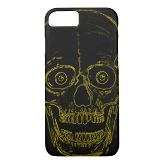 Skully Skull Golden Demon Skull iPhone 7 Case