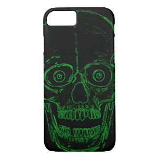 Skully Skull Green Toxic Demon Skull iPhone 7 Case