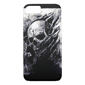 Skully Skull King Reaper Engraved Silver iPhone iPhone 7 Case