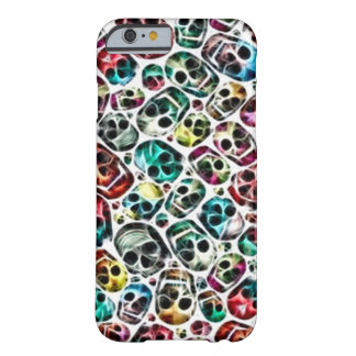 Skully Skull Panic Room Fractal Barely There iPhone 6 Case