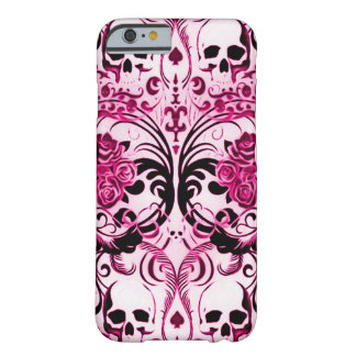Skully Skull Pink Death Barely There iPhone 6 Case