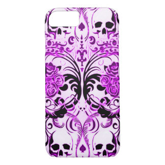 Skully Skull Purple Death iPhone 7 Case