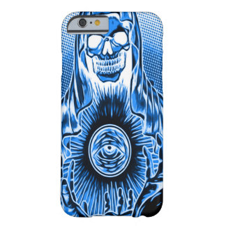 Skully Skull Retro Blue Death Barely There iPhone 6 Case
