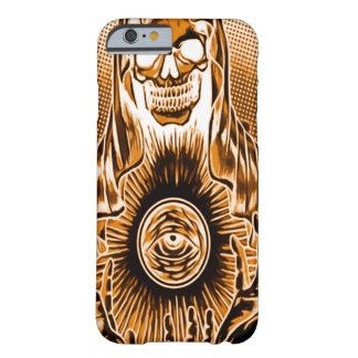 Skully Skull Retro Copper Death Barely There iPhone 6 Case