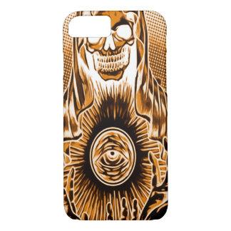 Skully Skull Retro Copper Death iPhone 7 Case