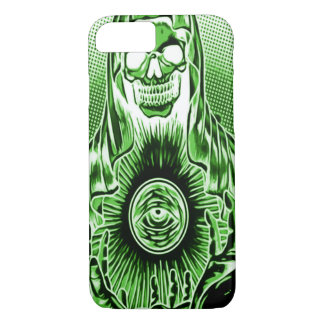 Skully Skull Retro Ghost Death iPhone 7 Case
