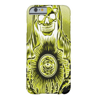 Skully Skull Retro Gold Death Barely There iPhone 6 Case