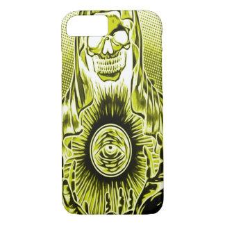 Skully Skull Retro Gold Death iPhone 7 Case