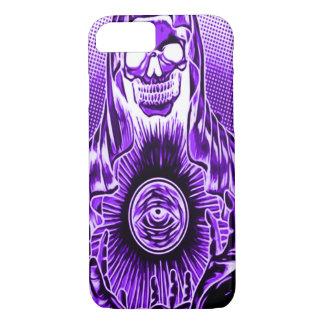 Skully Skull Retro Indigo Death iPhone 7 Case