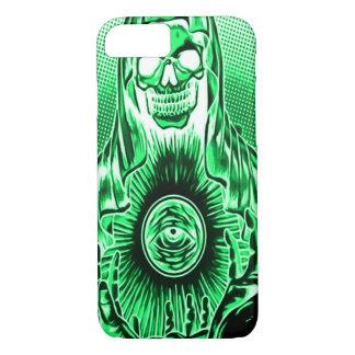 Skully Skull Retro Phantom Death iPhone 7 Case