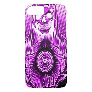 Skully Skull Retro Purple Death iPhone 7 Case