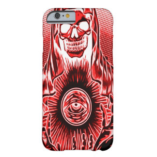Skully Skull Retro Red Death Barely There iPhone 6 Case