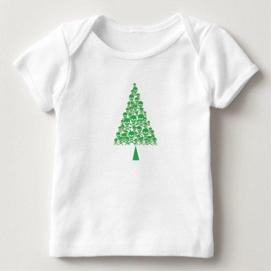 Skully Xmas Tree Baby T-Shirt
