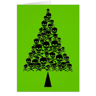 Skully Xmas Tree Card
