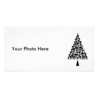 Skully Xmas Tree Customized Photo Card