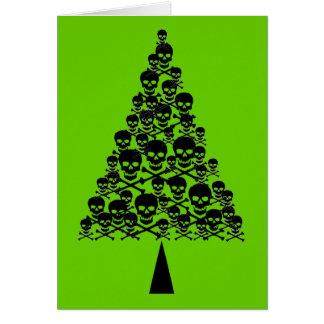 Skully Xmas Tree Greeting Card