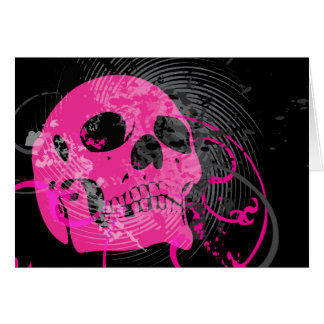 skullz. up twisted arrows. card