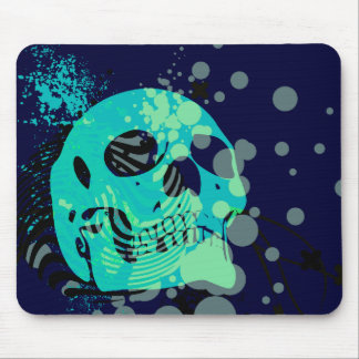 skullz. up with bubbles. mouse mat