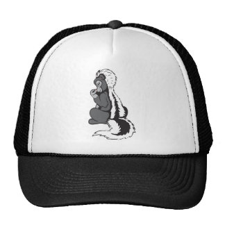 Skunk!  Customizable! Mesh Hat