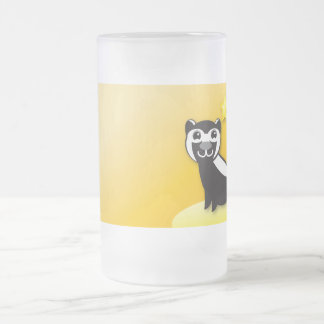 SKUNK cute Kawaii smiling Frosted Glass Mug
