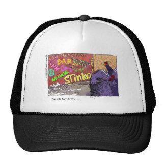 Skunk Graffiti Funny Cartoon Gifts & Tee Cap