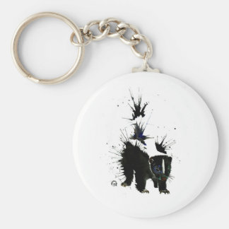 Skunk watercolour painting key ring