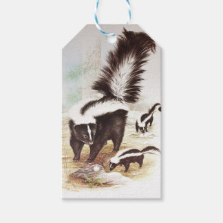 Skunks In The Snow Gift Tags