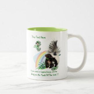 "Skunks, Leprechauns and the ""Luck Of The Irish"" Two-Tone Mug"