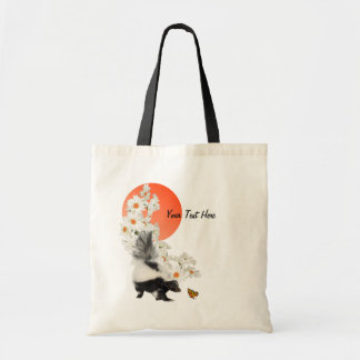 Skunks Need Time To Smell Flowers Too! Budget Tote Bag
