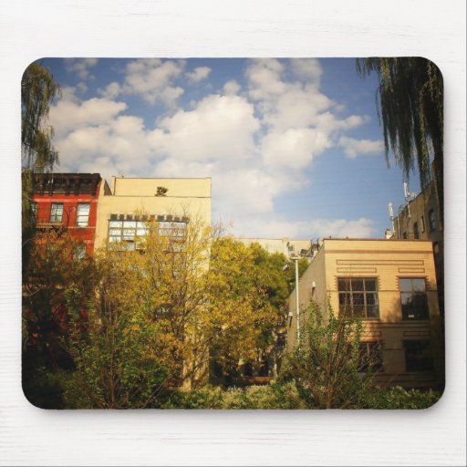 Sky Above a Garden in Alphabet City, East Village Mouse Pads