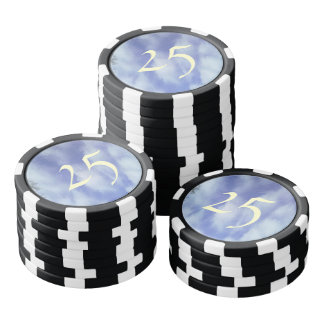 Sky abstract pattern poker chips
