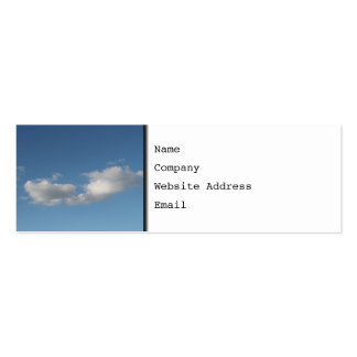 Sky and Clouds. Double-Sided Mini Business Cards (Pack Of 20)