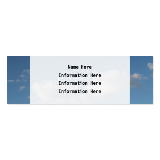 Sky and Clouds. Pack Of Skinny Business Cards