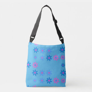 Sky and flowers crossbody bag