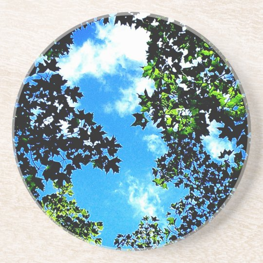 Sky and Leaves Coaster